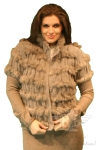 Luisa Cerano Knit & Fur Vest